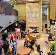 A view of the lobby of Union South on campus.