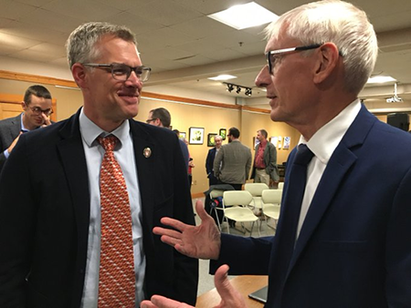Photo of Dan Vimont and Governor Tony Evers